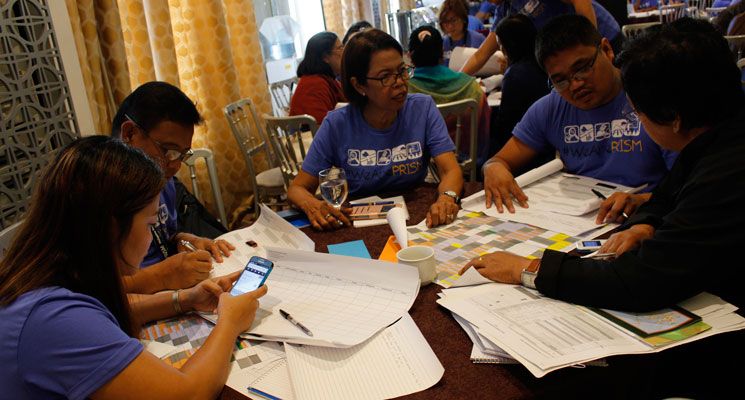 Regional partners working on 2017 calendar during PRISM's 2nd National Convention