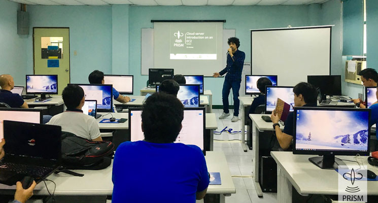 PRISM training on AWS system and database management
